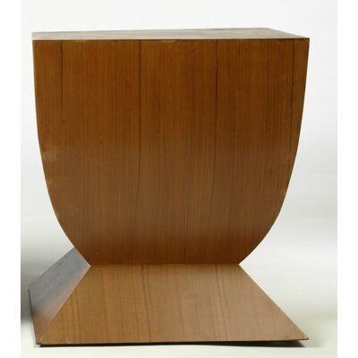 Legian End Table Color: Brown Base/Coco Top