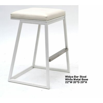 Widya 29.5 Bar Stool Upholstery: White