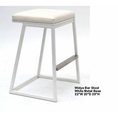 Widya 29.5 inch Bar Stool Upholstery: White