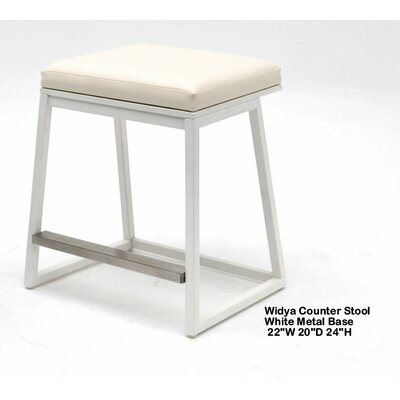 Widya 25 Bar Stool Upholstery: White