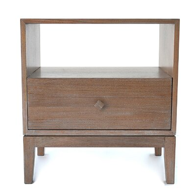 Kuta 1 Drawer Nightstand Finish: Washed Grey