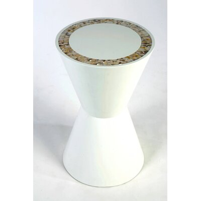 Double Cone End Table Color: White