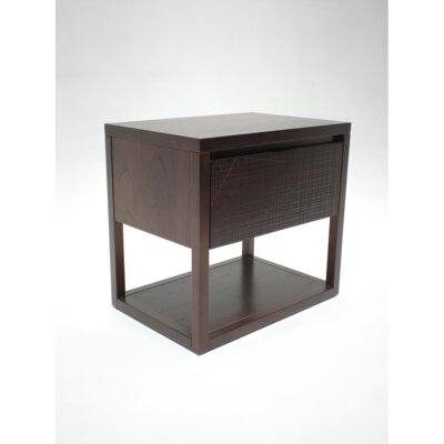 Benoa Nightstand with Atlas Drawer