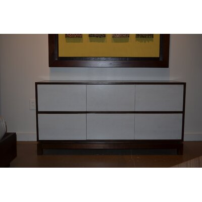 Nusa 6 Drawer Dresser Color: Bamboo