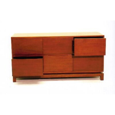 Nusa 6 Drawer Dresser Color: Teak