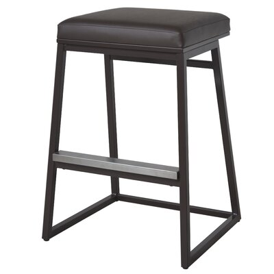 Widya 29.5 Bar Stool Upholstery: Brown