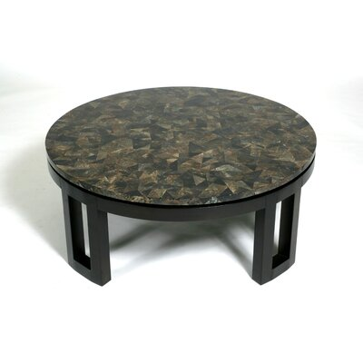 Kan Coffee Table Base Finish: Espresso, Top Finish: Grey Penshell
