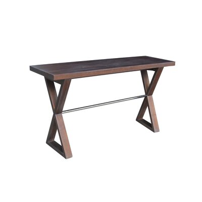 X-Base Console Table Finish: Mocha