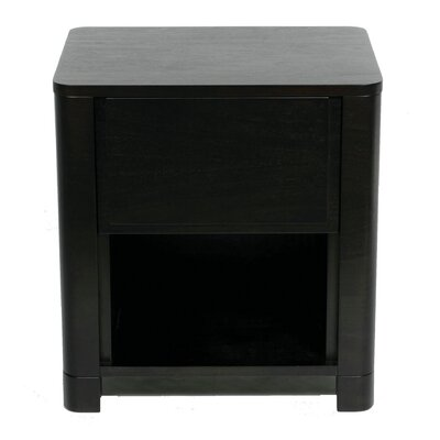 Serena 1 Drawer Nightstand Color: Espresso