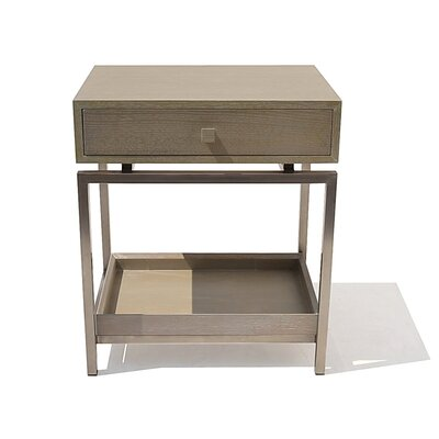Peele 1 Drawer Nightstand Color: Saltwood