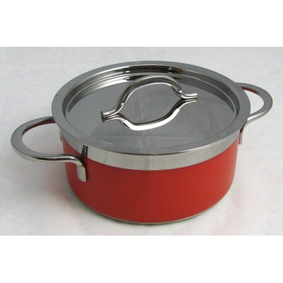 BON CHEF 60300RED Pot w/ Cover, Red, 2.3 Qt 272432090
