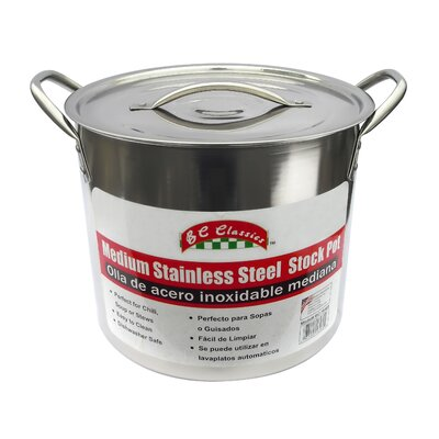 Stainless Steel Stock Pot with Lid Size: 12 Quart BC-16460