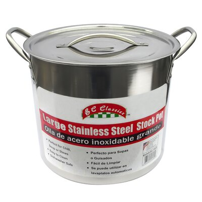 Stainless Steel Stock Pot with Lid Size: 16 Quart BC-16470