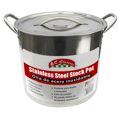 Stainless Steel Stock Pot with Lid Size: 20 Quart BC-17670