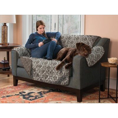 Reversible Sofa Furniture Protector Cover Type: Loveseat, Upholstery: Brown
