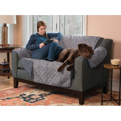 Reversible Sofa Furniture Protector Cover Type: Loveseat, Upholstery: Slate