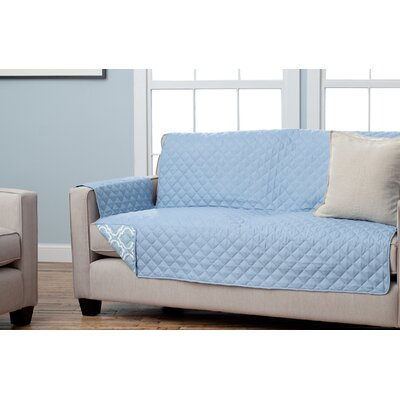 Adalyn Scroll Reversible Sofa Furniture Protector Upholstery: Marine Blue