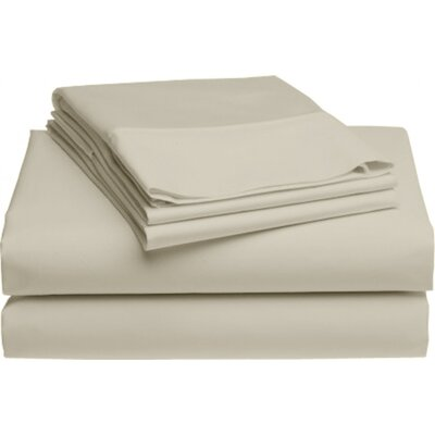 Holloway 6 Piece 400 Thread Count 100% Cotton Sheet Set Color: Flax