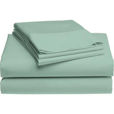 Holloway 6 Piece 400 Thread Count 100% Cotton Sheet Set Color: Eucalyptus