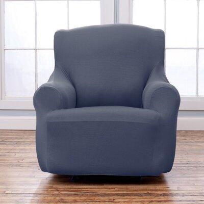 Armchair T-Cushion Slipcover Upholstery: Gray