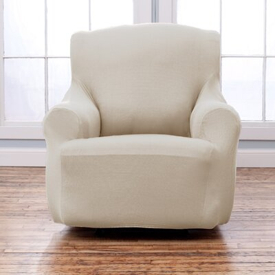 Armchair T-Cushion Slipcover Upholstery: Ivory