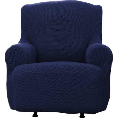 Savannah Popcorn T-Cushion Armchair Slipcover Upholstery: Wine