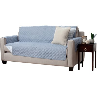 Adalyn Diamond Geo Reversible Sofa Furniture Protector Upholstery: Slate
