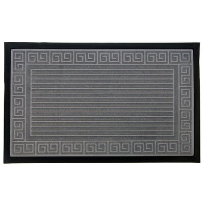 Trenton Scultped Welcome Doormat Color: Gray