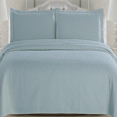 Emerson Quilt Set Color: Cloud Blue, Size: King