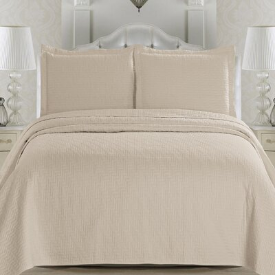 Emerson Quilt Set Size: Full / Queen, Color: Sandshell