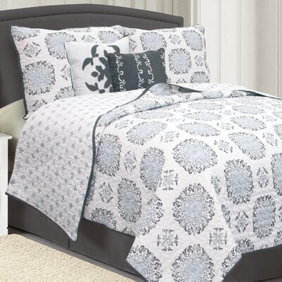 Raguel Quilt Set Size: Full / Queen, Color: Gray