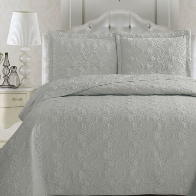 Rossa Quilt Set Size: Full / Queen, Color: Paloma Gray