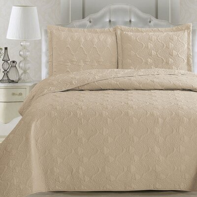 Rossa Quilt Set Color: Sandshell, Size: King