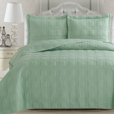 Big Coppitt Key Quilt Set Color: Smoke Green, Size: King
