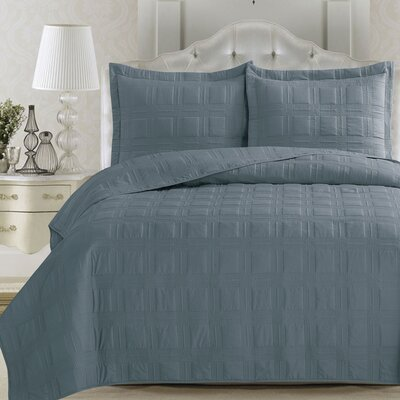 Big Coppitt Key Quilt Set Size: Twin, Color: Citadel Blue