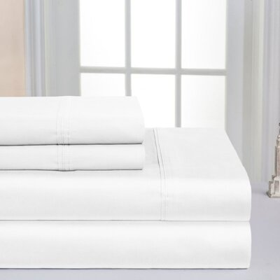 Super Soft Double Brushed Sheet Set Color: White, Size: Full