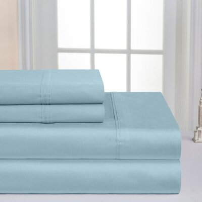 Super Soft Double Brushed Sheet Set Color: Sterling Blue, Size: King