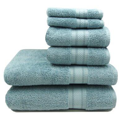 Regatta 6 Piece Towel Set Color: Cornsilk
