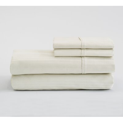 Fallcrest  400 Thread Count 100% Cotton Sheet Set Color: Ivory, Size: King