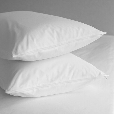 Premium 400 Thread Count Zippered Pillow Protector Size: Queen