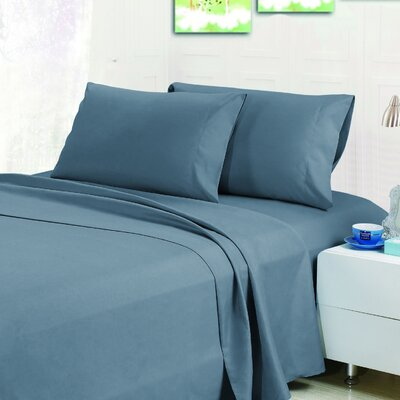 Bellamy Sheet Set Color: Cerulean Blue, Size: Queen