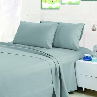 Bellamy Sheet Set Color: Moonlight Jade, Size: Queen