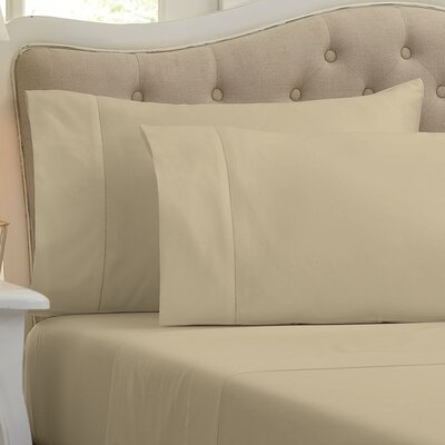 Holloway 400 Thread Count 100% Cotton Sheet Size: King, Color: Latte