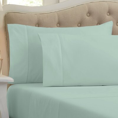 Holloway 400 Thread Count 100% Cotton Sheet Color: Eucalyptus, Size: Full