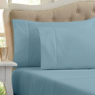 Quinn 1000 Thread Count Sheet Set Color: Dream Blue, Size: Queen