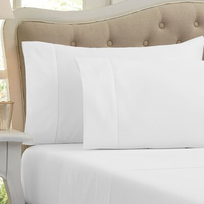 Quinn 1000 Thread Count Sheet Set Size: Full, Color: Optic White