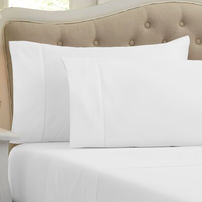 Holloway 400 Thread Count 100% Cotton Sheet Size: King, Color: White