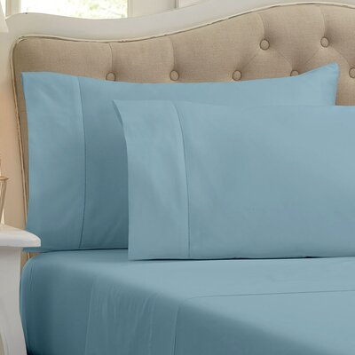 Lockwood 500 Thread Count 100% Egyptian Quality Cotton Sheet Set Color: Dream Blue, Size: King