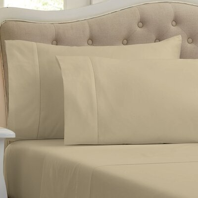 Lockwood 500 Thread Count 100% Egyptian Quality Cotton Sheet Set Color: Latte, Size: Queen