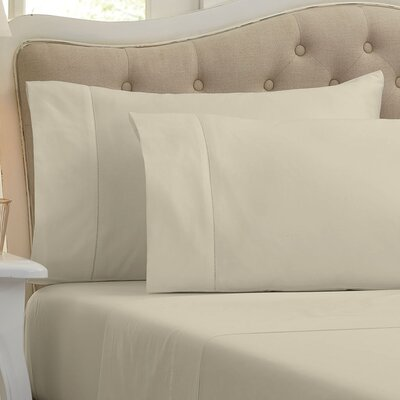 Holloway 400 Thread Count 100% Cotton Sheet Size: Full, Color: Flax